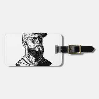 Bearded Chef Scratchboard Luggage Tag