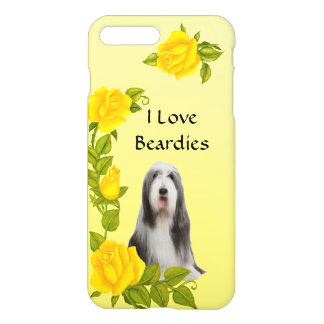 Bearded Collie and Yellow Roses iPhone 7 Plus Case