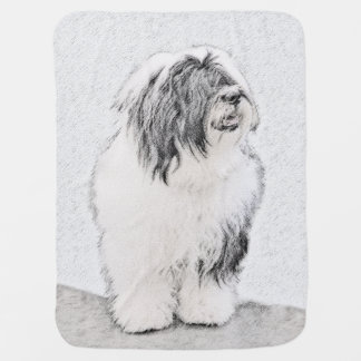 Bearded Collie Baby Blanket