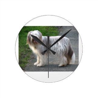 Bearded Collie Dog Wall Clock