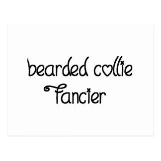 bearded collie fancier postcard