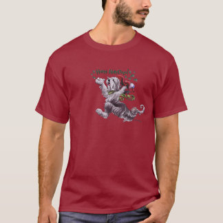 Bearded Collie Holiday t Shirt