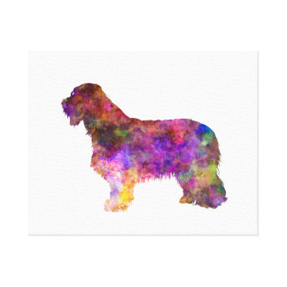 Bearded collie in watercolor canvas print