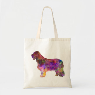 Bearded collie in watercolor tote bag