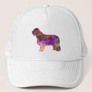 Bearded collie in watercolor trucker hat