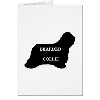 Bearded Collie name silo black Card