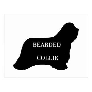 Bearded Collie name silo black Postcard