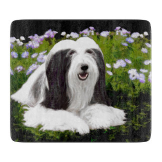 Bearded Collie (Painted) Cutting Board