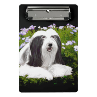 Bearded Collie (Painted) Mini Clipboard