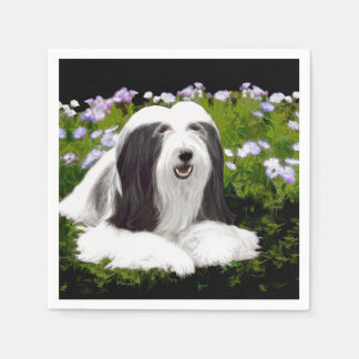 Bearded Collie (Painted) Paper Serviettes