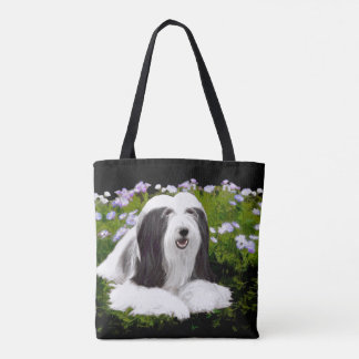 Bearded Collie (Painted) Tote Bag