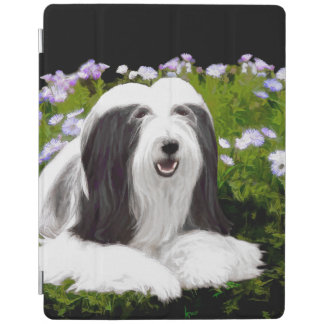 Bearded Collie Painting - Cute Original Dog Art iPad Cover