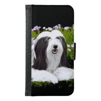 Bearded Collie Painting - Cute Original Dog Art Samsung Galaxy S6 Wallet Case