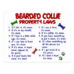 BEARDED COLLIE Property Laws 2 Postcards