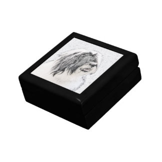 Bearded Collie Small Square Gift Box