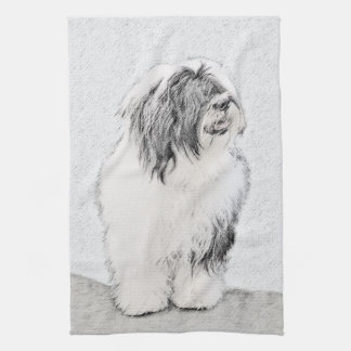 Bearded Collie Tea Towel