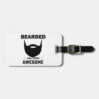 bearded cubby luggage tag