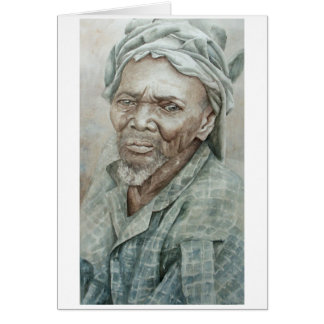 Bearded Dogon Man Card