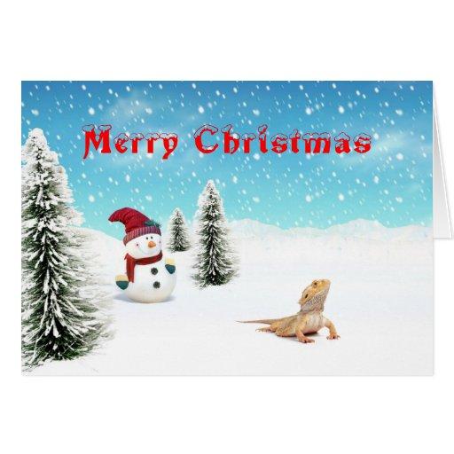 Bearded Dragon Christmas Card