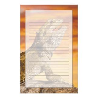 Bearded dragon (Pogona Vitticeps) on rock, Customised Stationery