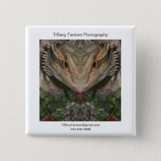 Bearded Dragon Promo 15 Cm Square Badge