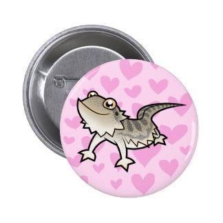 Bearded Dragon / Rankin Dragon Love 6 Cm Round Badge