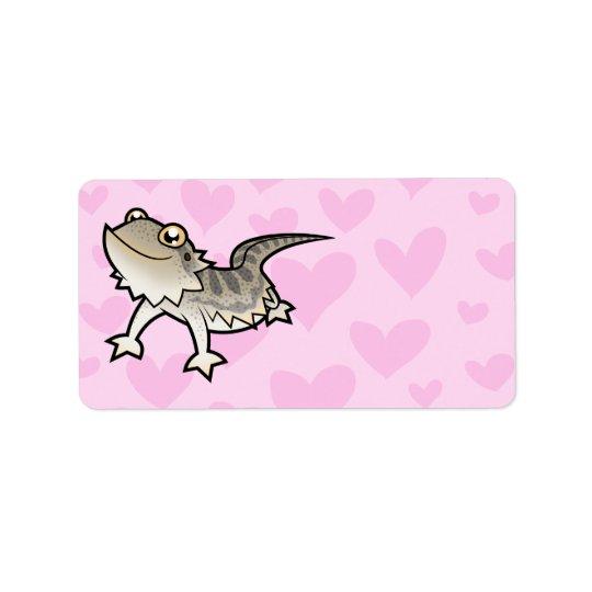 Bearded Dragon / Rankin Dragon Love Address Label