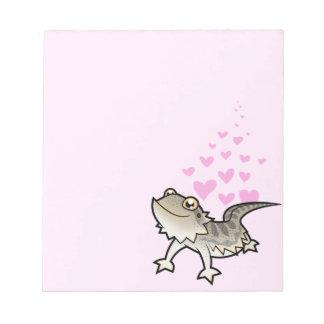 Bearded Dragon / Rankin Dragon Love Scratch Pad