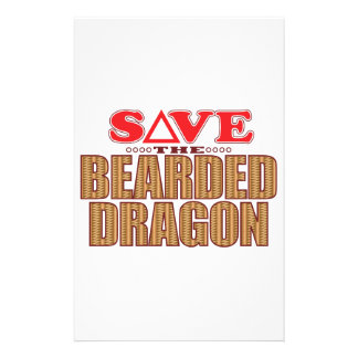 Bearded Dragon Save Stationery Paper