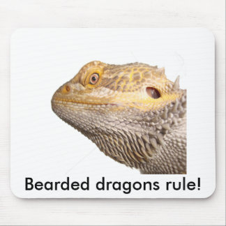 """Bearded dragons rule!"" mouse pad"