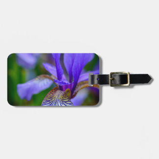 Bearded iris bag tag