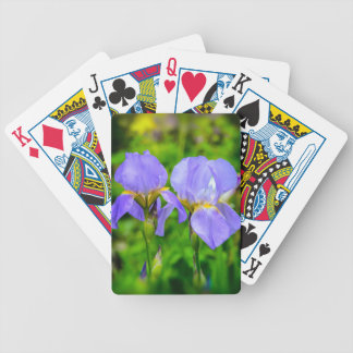 Bearded Iris Bicycle Playing Cards