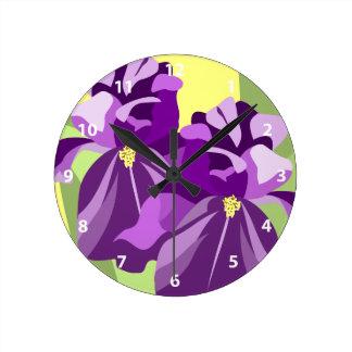 Bearded Iris Flower Clocks