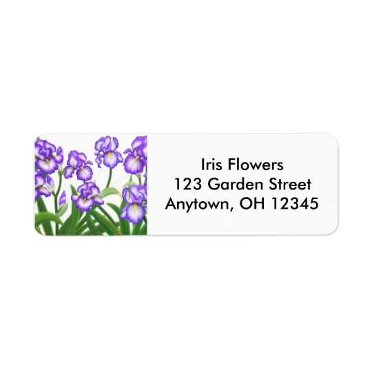 Bearded Iris Flowers Label