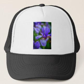 Bearded iris trucker hat