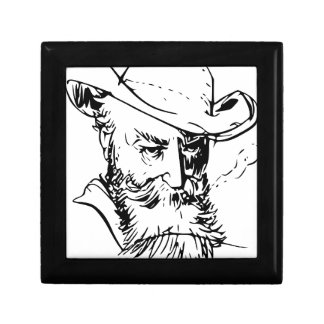 Bearded man small square gift box