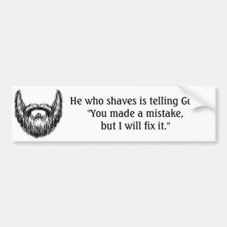 Bearded men bumper sticker