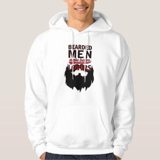Bearded men make better lovers hoodie