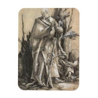 Bearded Saint in a Forest by Albrecht Durer Flexible Magnet