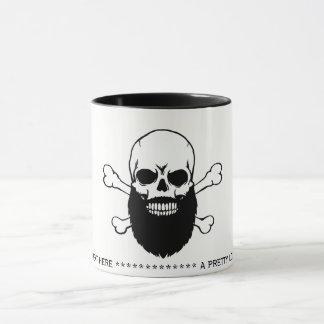 Bearded Skull Message Coffee Mug