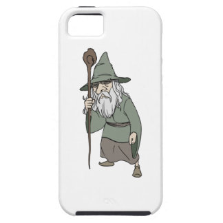 Bearded Wizard with Wizard's Staff iPhone 5 Cases