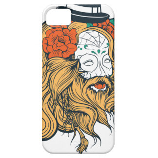 bearded women girl iPhone 5 case