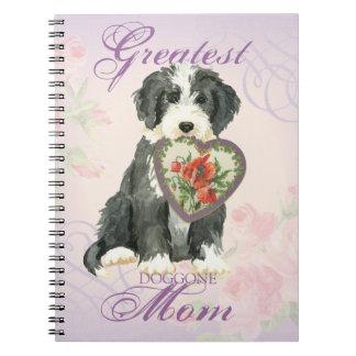 Beardie Heart Mom Spiral Note Book