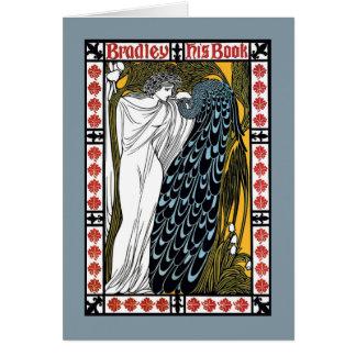 Beardley Peacock Card