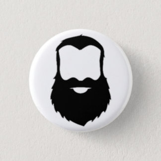 BEARDS 3 CM ROUND BADGE