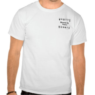 Beards for Peace - Henley w/small logo Tees