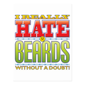 Beards Hate Face Post Cards