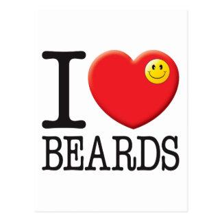 Beards Love Postcard