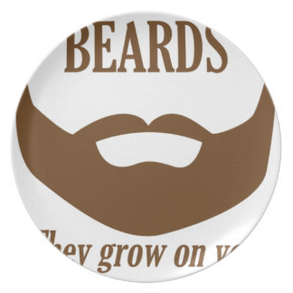BEARDS THEY GROWN ON YOU PARTY PLATE