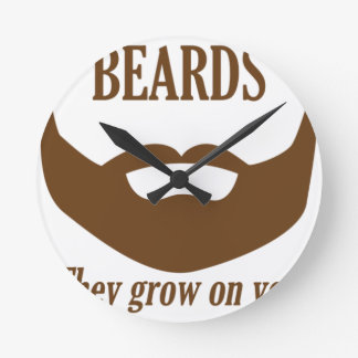 BEARDS THEY GROWN ON YOU WALLCLOCKS